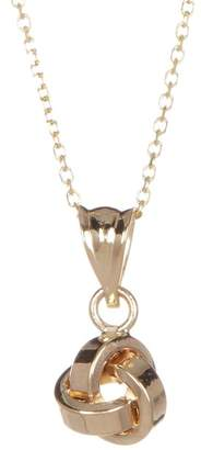 KARAT RUSH 10K Gold Knotted Pendant Necklace