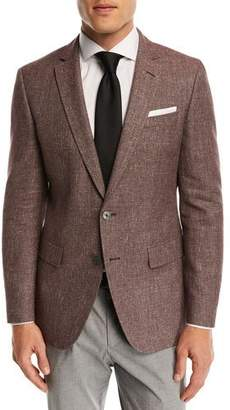 BOSS Hopsack Cotton-Linen Sport Coat