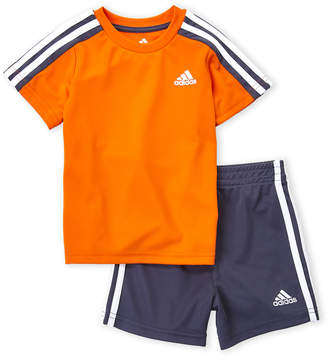 adidas Infant Boys) Two-Piece Tricot Tee & Active Shorts Set