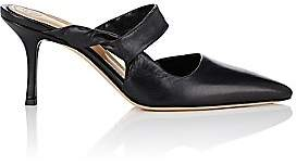 The Row Women's Gala Twist Leather Mules - Black