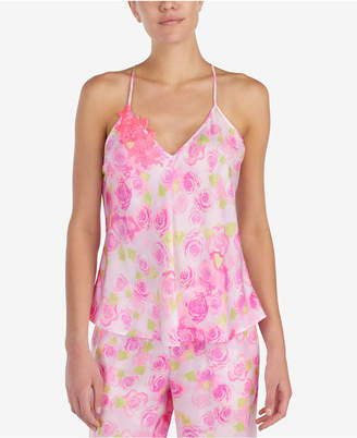 Betsey Johnson Floral-Embroidered Pajama Top