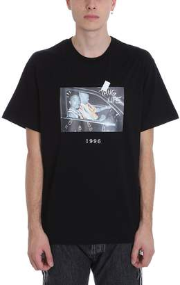 Throw Back 2 Pac Black Cotton T-shirt