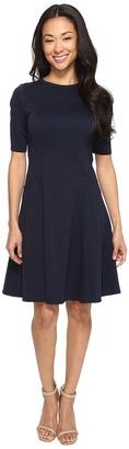 Christin Michaels - Ella Short Sleeve Ponte Dress Women's Dress $74 thestylecure.com