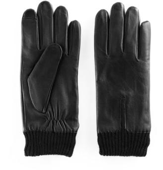 Apt. 9 Women's Knit Cuff Leather Tech Gloves