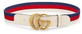 Gucci Women's GG Marmont Web Stripe Belt