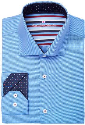 Michelsons of London Men's Slim-Fit Twill Design Dress Shirt
