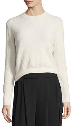 Vince Fuzzy Wool Crewneck Pullover Sweater