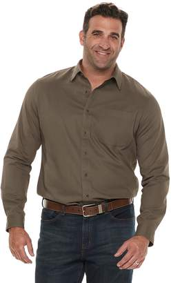 Croft & Barrow Big & Tall Regular-Fit Twill Utility Button-Down Shirt