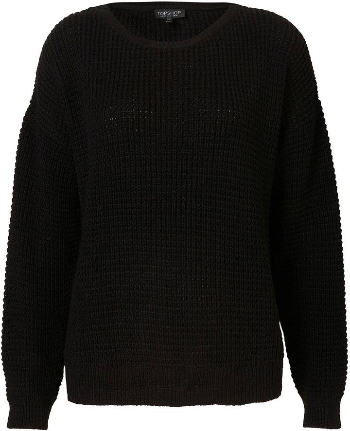 Knitted Textured Grunge Jumper