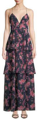 Fame & Partners The Wyatt Floral Tiered Ruffle Dress