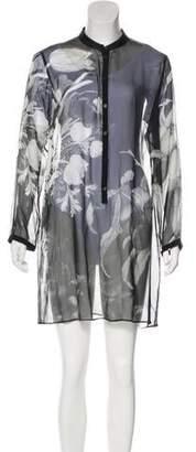 Giambattista Valli Silk Sheer Dress