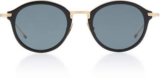 Thom Browne Acetate And Metal Round Sunglasses