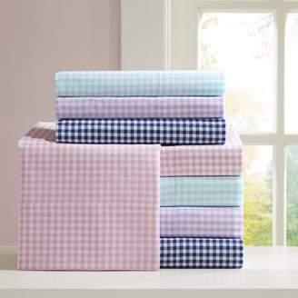 Home Essence Teen Gingham 180 Thread Count Cotton Sheet Set
