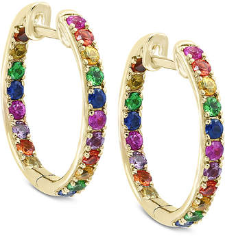 Effy Watercolors by Multi-Gemstone Hoop Earrings (1-3/4 ct. t.w.) in 14k Gold