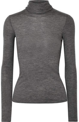 The Row Margit Cashmere-blend Turtleneck Sweater - Dark gray