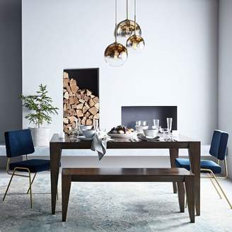 west elm Anderson Solid Wood Dining Table - Carob