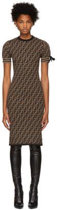 Fendi Brown Knit Forever Dress