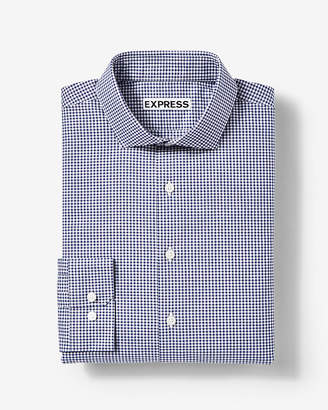 Express Extra Slim Fit Small Check Dress Shirt