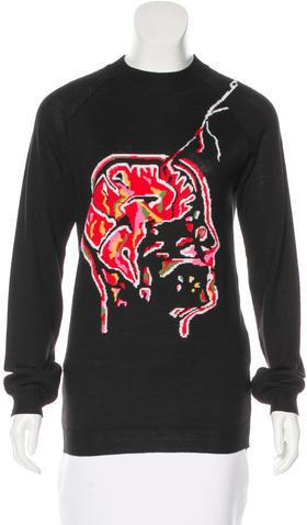 Christopher KaneChristopher Kane Crew Neck Intarsia Sweater