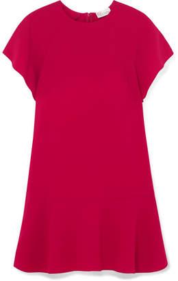 RED Valentino Crepe De Chine Mini Dress - Plum
