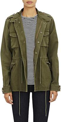 Barneys New York Women's Canvas Army Jacket $425 thestylecure.com