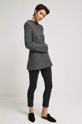 French Connection Twisted Cable Knit High Neck Jumper