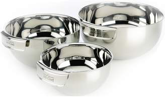 All-Clad Set of 3 Stainless Steel Mixing Bowls