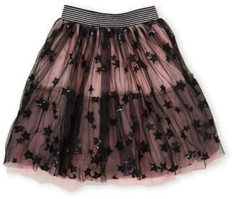 Hannah Banana Girls 7-16) Sequin Star Mesh Skirt