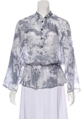 MICHAEL Michael Kors Tie-Dye Cinched Blouse