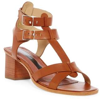 Matt Bernson KM Block Heel Leather Sandal