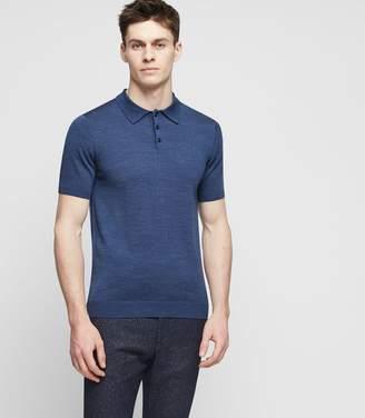 Reiss Manor - Merino Wool Polo Shirt in Indigo