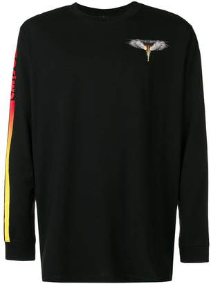 Marcelo Burlon County of Milan Wings Barcode long sleeve top