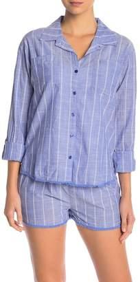 PJ Salvage Feelin' Blue Stripe Button Down Shirt