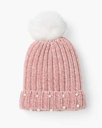 Chico's Chicos Cozy Blush Pom-Pom Hat