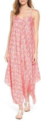 Women's Vineyard Vines Seashell Print Handkerchief Hem Maxi Dress $138 thestylecure.com
