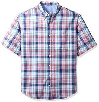 Izod Men's Big Saltwater Chambray Short Sleeve Shirt