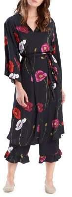 Josie Freestyle Floral Bardot Lace Wrap Robe