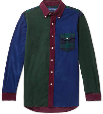 Polo Ralph Lauren Fun Slim-Fit Button-Down Collar Panelled Cotton-Corduroy Shirt