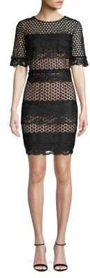 Badgley Mischka Belle Gia Mesh Sheath Dress