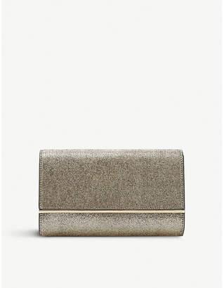 Dune Gold Stripe Elysse Metallic Fabric Clutch Bag