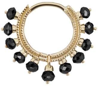 Black Diamond Maria Tash 5/16' Pearl Coronet Hoop Earring