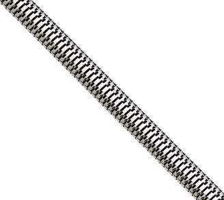"""Steel By Design Stainless Steel 7"""" Polished Snake Chain Bracelet"""
