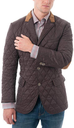 VERNO Men's Quilted Notched Lapel Sports Coat