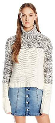 Calvin Klein Jeans Women's Chunky Knit Turtleneck Sweater $63 thestylecure.com