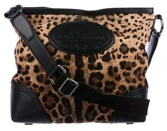Dolce & Gabbana Leather-Trimmed Printed Canvas Crossbody Bag