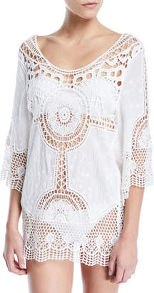 LaBlanca La Blanca Zen Oasis Crochet Coverup Tunic
