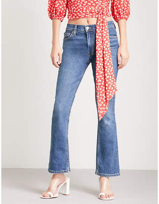 RE/DONE Flared cropped mid-rise jeans