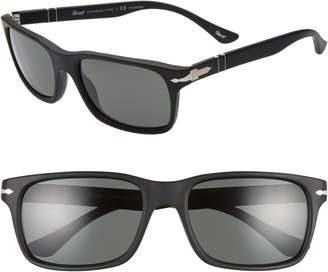Persol 58mm Polarized Rectangle Sunglasses