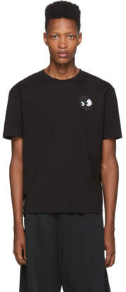 McQ Black Dropped Shoulder T-Shirt