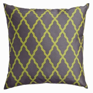 """Softline Emeline Chartreuse 20"""" x 20"""" Feather Down Decorative Pillow"""